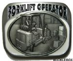 FORKLIFT TRUCK OPERATOR BELT BUCKLE + display stand